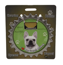 French Bulldog Frenchie dog coaster magnet bottle opener Bottle Ninjas m... - $9.95