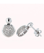9k White Gold Drop Earrings Set with 0.30 ct Natural Diamonds - $447.20