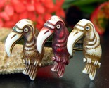 Vintage toucans birds trio pin brooch early plastic celluloid figural thumb155 crop