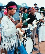 Jimi Hendrix Woodstock TKK Vintage 8X10 Color M... - $6.99