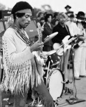 Jimi Hendrix Woodstock CTK Vintage 8X10 BW Musi... - $6.99