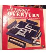 SCRABBLE OVERTURN VINTAGE 1989 BOARD GAME -  New Spin On Family Favorite - $7.94