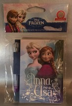 DISNEY FROZEN ANNA & ELSA  Cinnamon Scented NOTE PAD & GLITTER GEL PEN NEW - $4.94
