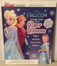 DISNEY FROZEN CREATE YOUR OWN PAPER DRESSES BOOK Makes 4 Dresses For Gir... - $19.94