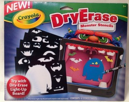 Crayola Dry Erase MONSTER Stencils For Use With Crayola Dry Erase - NEW - $7.94