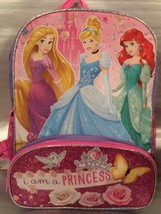 Disney Princess 16 Inch Backpack - I AM A PRINCESS - NWT Princess Sparkly - $21.94
