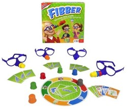 Fibber Board Game Includes Hilarious Noses & Glasses For Players To Wear... - $17.17