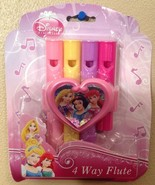 Disney Princess 4-Way Flute Great for Princess Party Favors - New in Pac... - $3.94