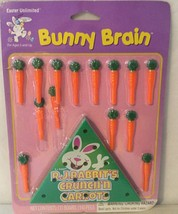 Easter Unlimited BUNNY BRAIN PEG Game Cute Carrot Pegs - Easter Basket Treat - $5.95