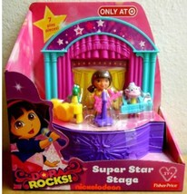 Fisher-Price Dora The Explorer: Dora Rocks Super Star Stage - 7 Play Pieces NEW! - $17.94