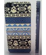 Yak Pak Case for iPhone 5 - FAIR ISLE SKULL BLUE Design - NEW in box!  C... - $6.94