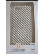 iPhone 5 Case / Cover Gold/White Diagonal Stripe Design - NEW in box! - $6.94