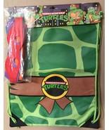 TEENAGE MUTANT NINJA TURTLES Drawstring Back Sack - With Tie On Masks!  New - $17.94