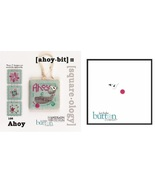 CLEARANCE Ahoy Bit fob Squareology PLUS button pack cross stitch JABC  - $5.80