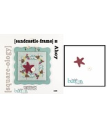 CLEARANCE Sandcastle Frame Square-ology PLUS button pack cross stitch JABC  - $6.00