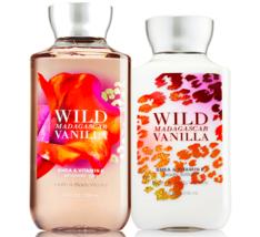 Bath & Body Works Wild Madagascar Vanilla Body Lotion + Shower Gel Duo Set - $25.43