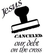 Jesus Canceled Our Debt on the Cross, Wall Art, Decal, Forgiven, Debt Paid - $11.99