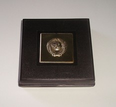 LENIN 925 SILVER TABLE MEDAL 50 YEARS OF USSR NEW IN ORIGINAL BOX - $399.99