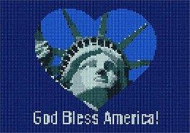 Heart God Bless America Needlepoint Canvas - $50.00