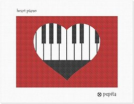 Heart Piano Needlepoint Kit - $62.12