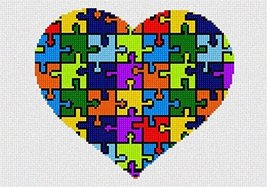 Heart Puzzle Needlepoint Kit - $69.05