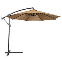 New Patio Umbrella Offset 10' Hanging Umbrella Outdoor Umbrella - $96.99
