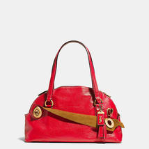 Coach Old Brass/1941 Red Grain Leather Zip Clos... - $929.99