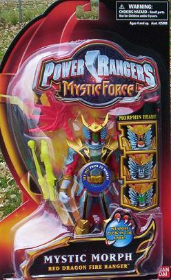 Power Rangers Mystic Force Morph RED Dragon Ranger NEW Action Figure Generic