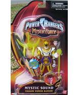 Power Rangers Mystic Force Yellow SOUND Ranger Action Figure NeW 2 Weapo... - $29.99