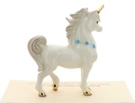 Hagen-Renaker Miniature Ceramic Unicorn Figurine Papa and Baby with Flowers Set image 10