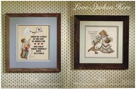 LOVE SPOKEN HERE  - STONEY CREEK CROSS STITCH BOOK - $7.87