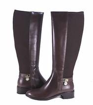 Michael Kors brown Hamilton Tall Leather Elasti... - $147.51