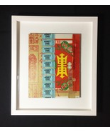 "Mixed Media Collage: Admit One 8"" x 10"" (Framed to 13"" x 15"") - $100.00"