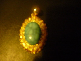 Haunted Rare Egyptian Marid Temple Djinn, Female  Turquiose Pearl Pendent 9 K Ove - $55.00