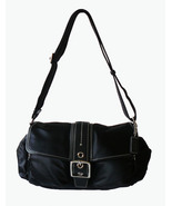 Authentic Coach Soho Black Satin Nylon & Leathe... - $60.00