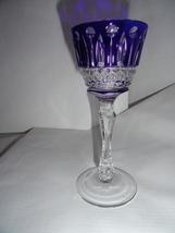 Faberge Xenia Cobalt  Blue Crystal  Liqueur Glass  - $185.00