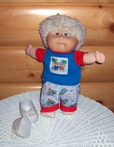 Cabbage Patch Kid Preschool Toddler '91 Hasbro Know Animals Red & Blue Outfit  - $26.99