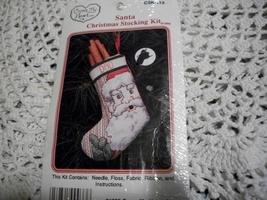 Santa Christmas Stocking Kit & Ornaments Chart - $5.00