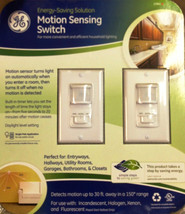GE Motion Control Switches 2 PK For Bathrooms Kitchen Garage Home Office - $44.10