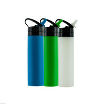 Smart Planet Silicone Squeeze Hydration Water Bottle Cycling Sports Exercise - $8.73+