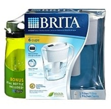 Brita Filtration System Water Pitcher With Hydration Bottle - $25.17