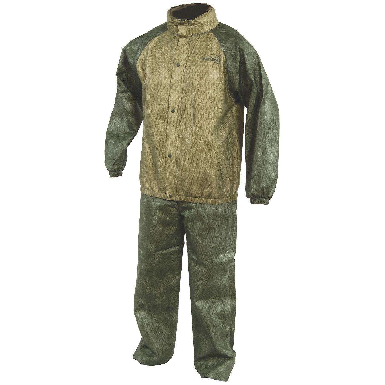 Natural gear rain suit camping hunting fishing hiking for Fishing rain suits