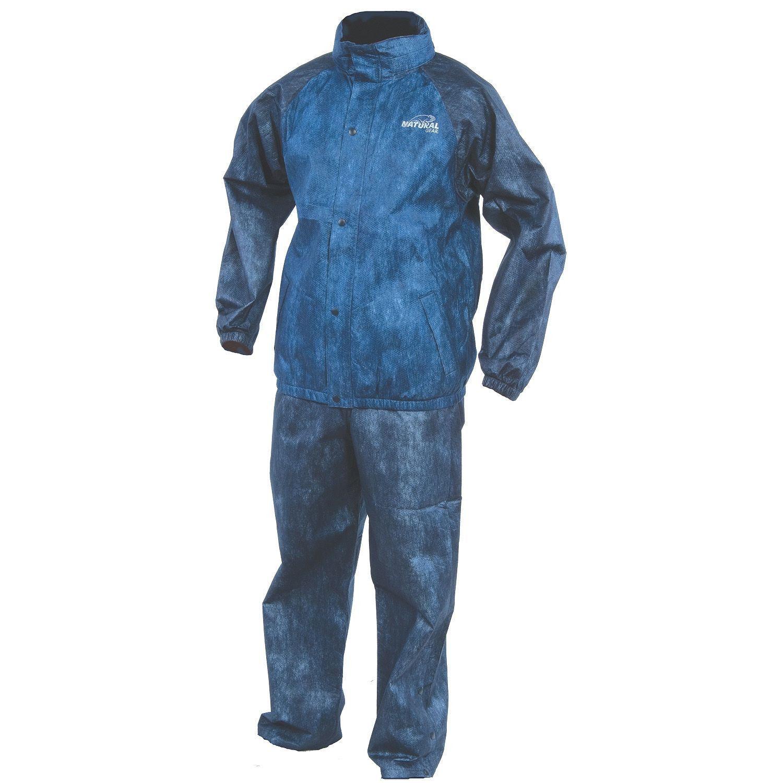 Natural gear rain suit camping hunting fishing hiking for Rain bibs fishing