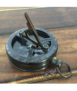 Mini Engraved Pocket Sundial Watch Clock Compass Old Marine Navy/Army St... - €17,68 EUR
