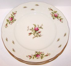 "Stunning Set Of 4 Rosenthal Germany Sanssouci Rose 10 1/4"" Dinner Plates - $50.48"