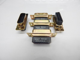 Amp 205206 1 D Sub Db15 15 Pin Male Connector Amplimite Hdp   You Get 5 Pieces - $7.95