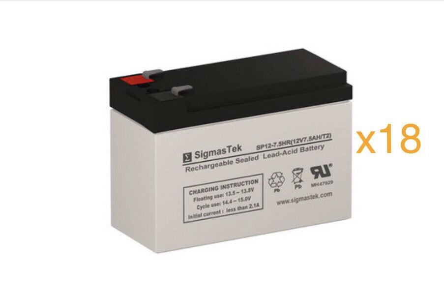Set of 8 Upsonic 2000 UPS Replacement Batteries