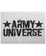 "2 Pack Army Universe Cloth Sticker Fabric Patch 2.5"" x 3.5"" Black / White - $6.99"