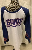 NWT Official NFL Team Apparel NY Giants Long Sleeve Baseball T-shirt Size XL B1 - $27.10