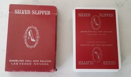 RARE Vintage Las Vegas Silver Slipper Casino RED Playing Cards Complete - $59.39
